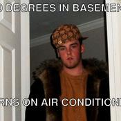 60 degrees in basement turns on air conditioning 8e0ca3