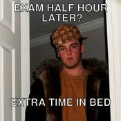 Exam half hour later extra time in bed 6e803a