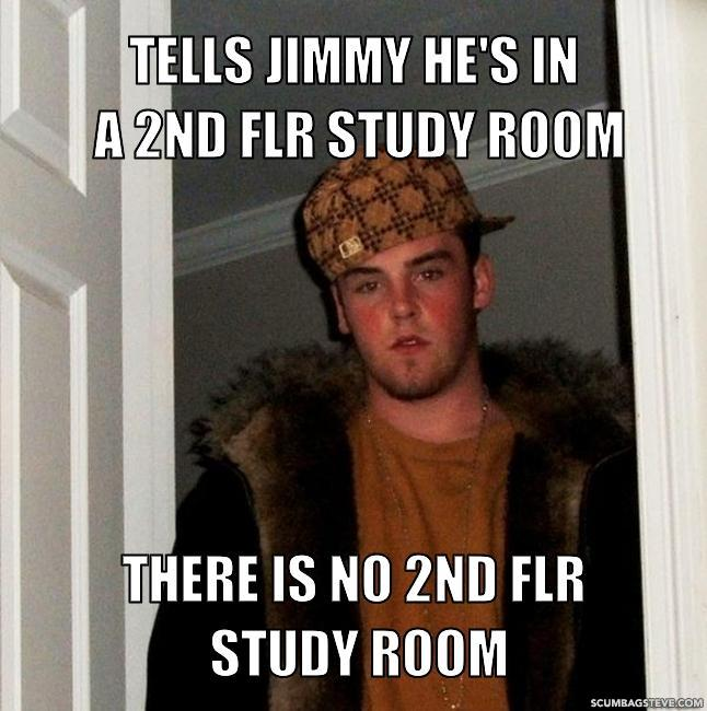 Tells jimmy he s in a 2nd flr study room there is no 2nd flr study room 66ed67