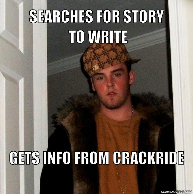 Searches for story to write gets info from crackride b40af1