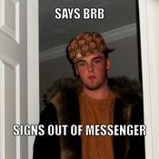 Says brb signs out of messenger fcbf5b