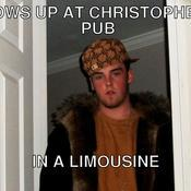Shows up at christopher s pub in a limousine 682947