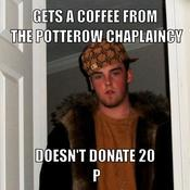 Gets a coffee from the potterow chaplaincy doesn t donate 20 p 8d5e14