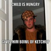 Child is hungry gives him bowl of ketchup 6c57a5