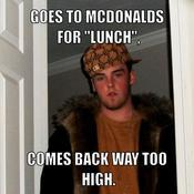 Goes to mcdonalds for lunch comes back way too high 1f3493