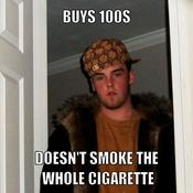 Buys 100s doesn t smoke the whole cigarette 8ae18d