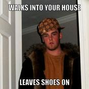 Walks into your house leaves shoes on 3b9be0