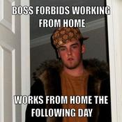Boss forbids working from home works from home the following day e2e166