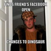 Finds friend s facebook open changes to dinosaur 789d39