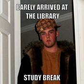 Barely arrived at the library study break 4d89e2