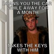 Loans you the car while away for a month takes the keys with him fb1f37