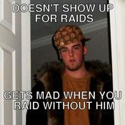 Doesn t show up for raids gets mad when you raid without him e8a4c8
