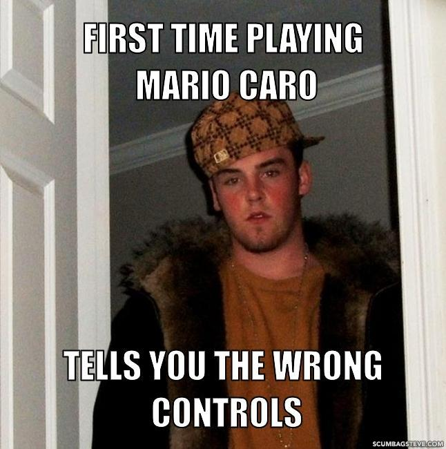 First time playing mario caro tells you the wrong controls d41d8c