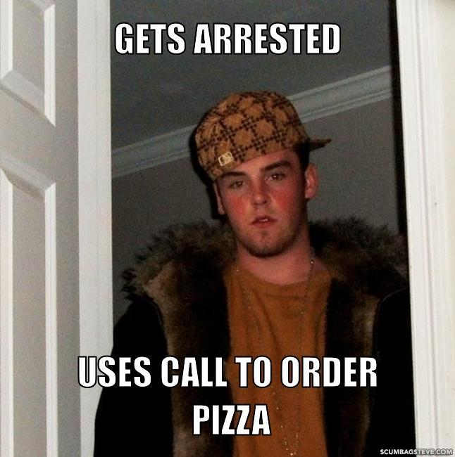 Gets arrested uses call to order pizza 261ad2