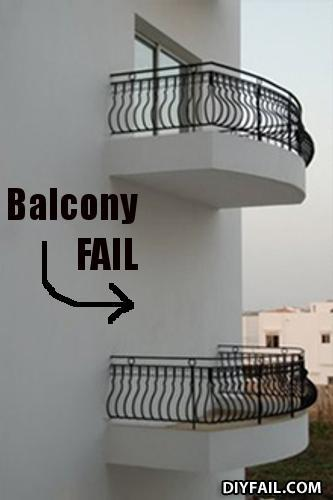 Balcony fail