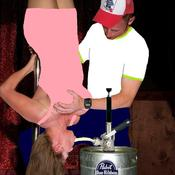 Pabst blue ribbon keg stand