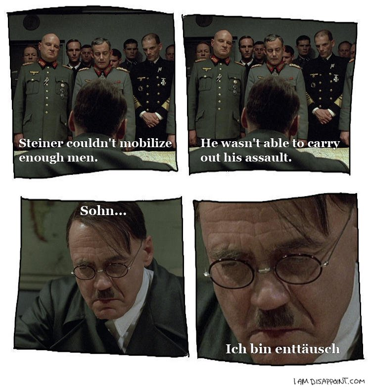 Hitler disappoint