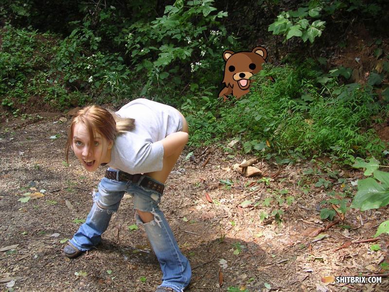 Mooning girl naked piss