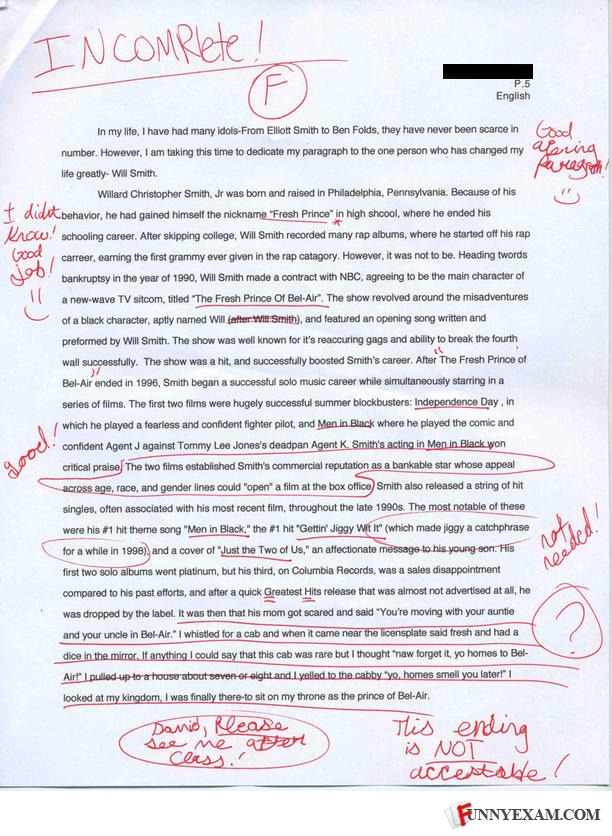 Funny college midterm exam essay answer faculty position application cover letter