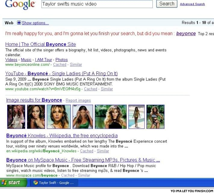Google interupts taylor swift1