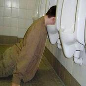 Urinal passed out