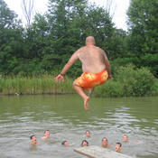 Swimming with coach 2006