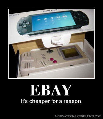 Ebay it s cheaper for a reason 60ce96