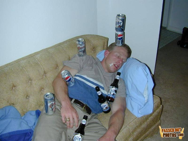 Funny drunk people passed out